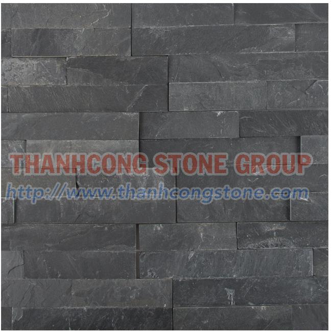 Black Slate Stone Panel 02