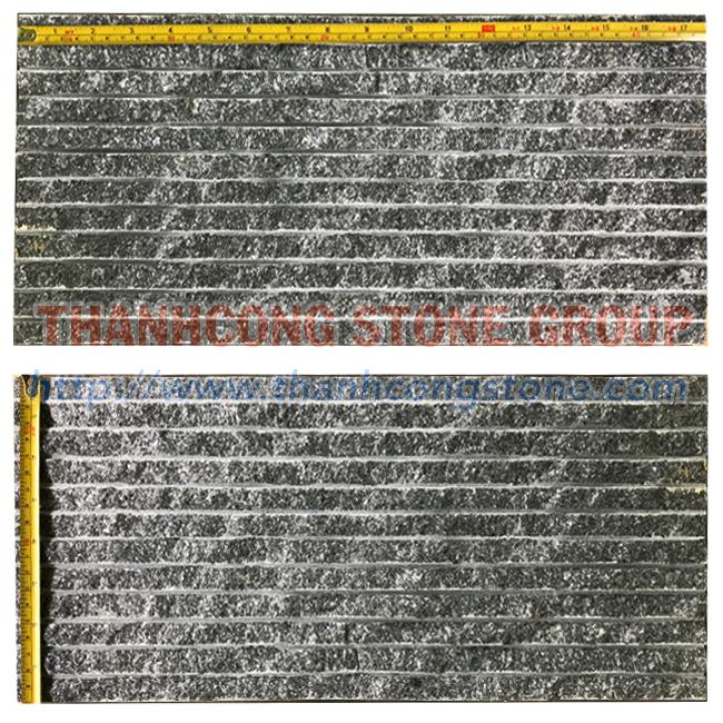 Crystal Black Chiseled Tile