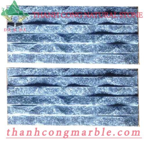 Silver Black Stone Chiseled Tile 01