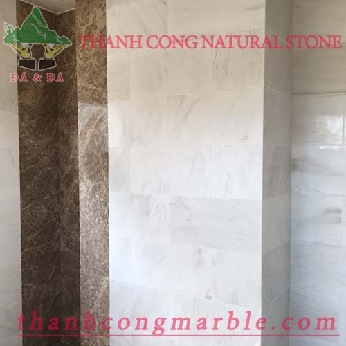 Milky White Marble Wall Tile 03
