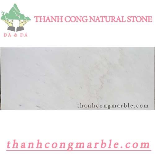 Milky White Marble Step Stone