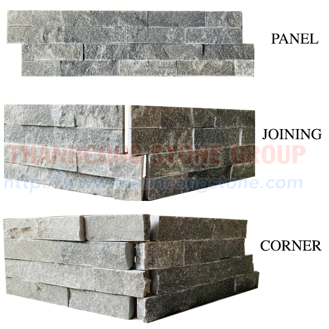 Silver Black Stone  Panels